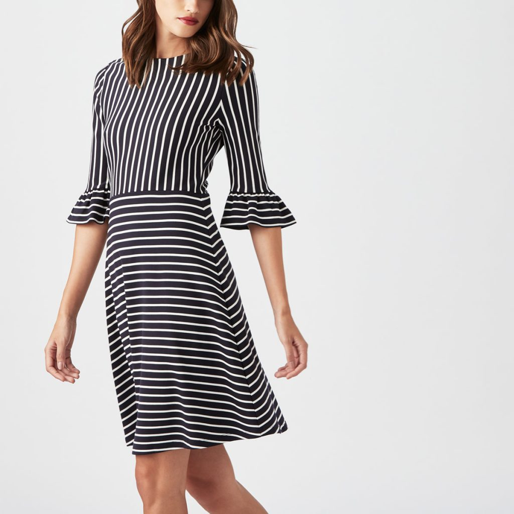 Breton Pin Stripe Jersey Dress Cath Kidston