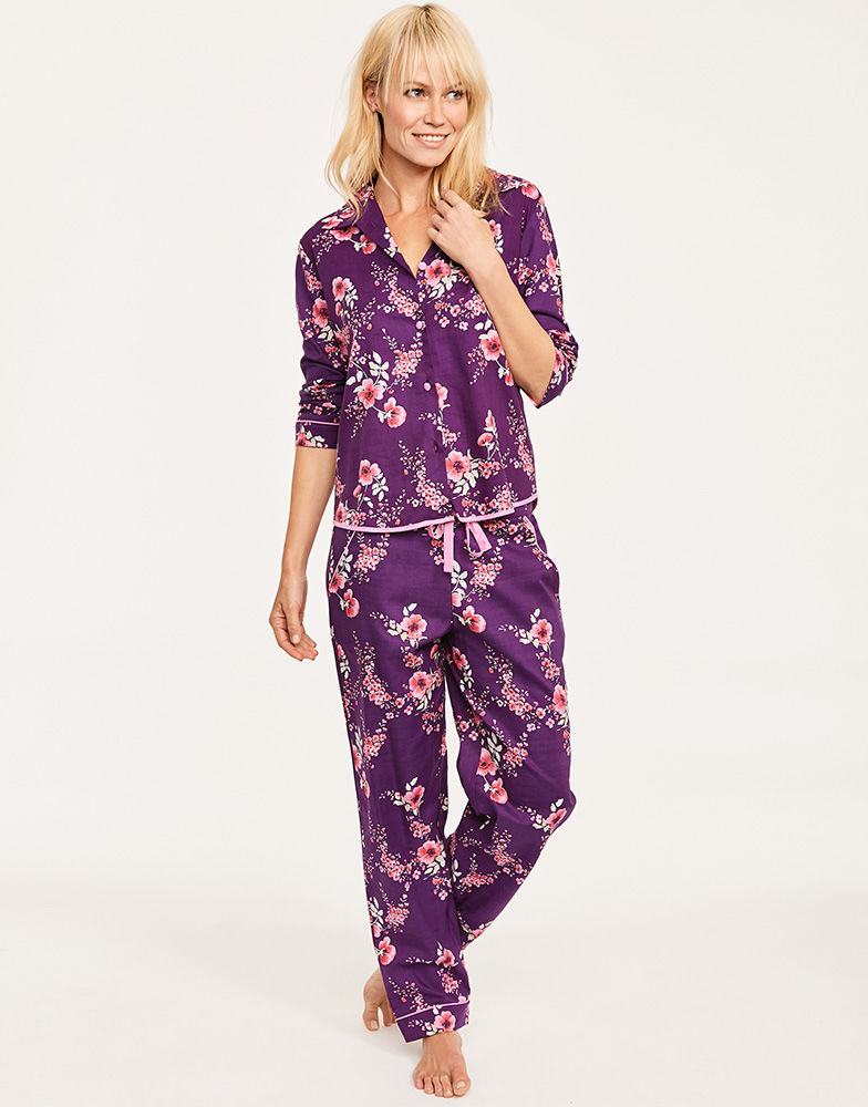 Cyberjammies Anna Floral Print Top and Pant PJ Set Figleaves