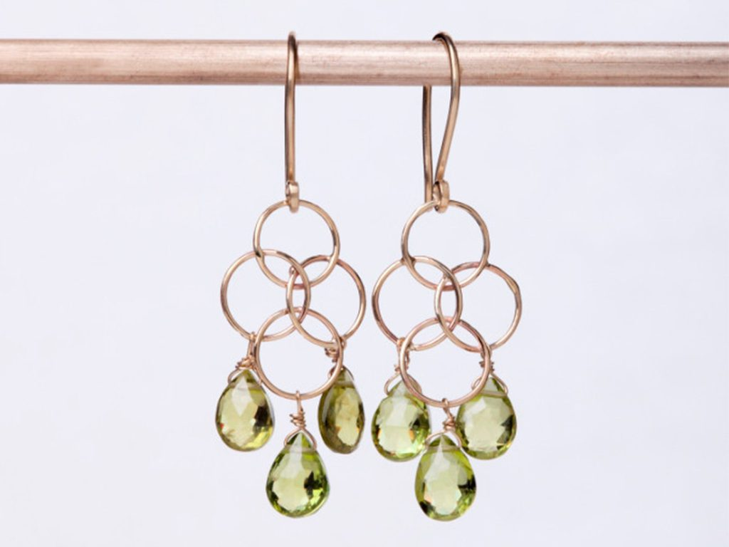 14 Carat Gold Peridot Earrings Dana Barut Jewellery