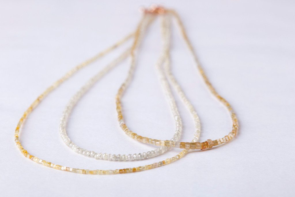 Diamond Strings Necklace Dana Barut Jewellery