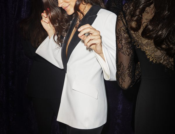 Karen Millen Fluted Sleeve Tuxedo Owning It AW17 Collection