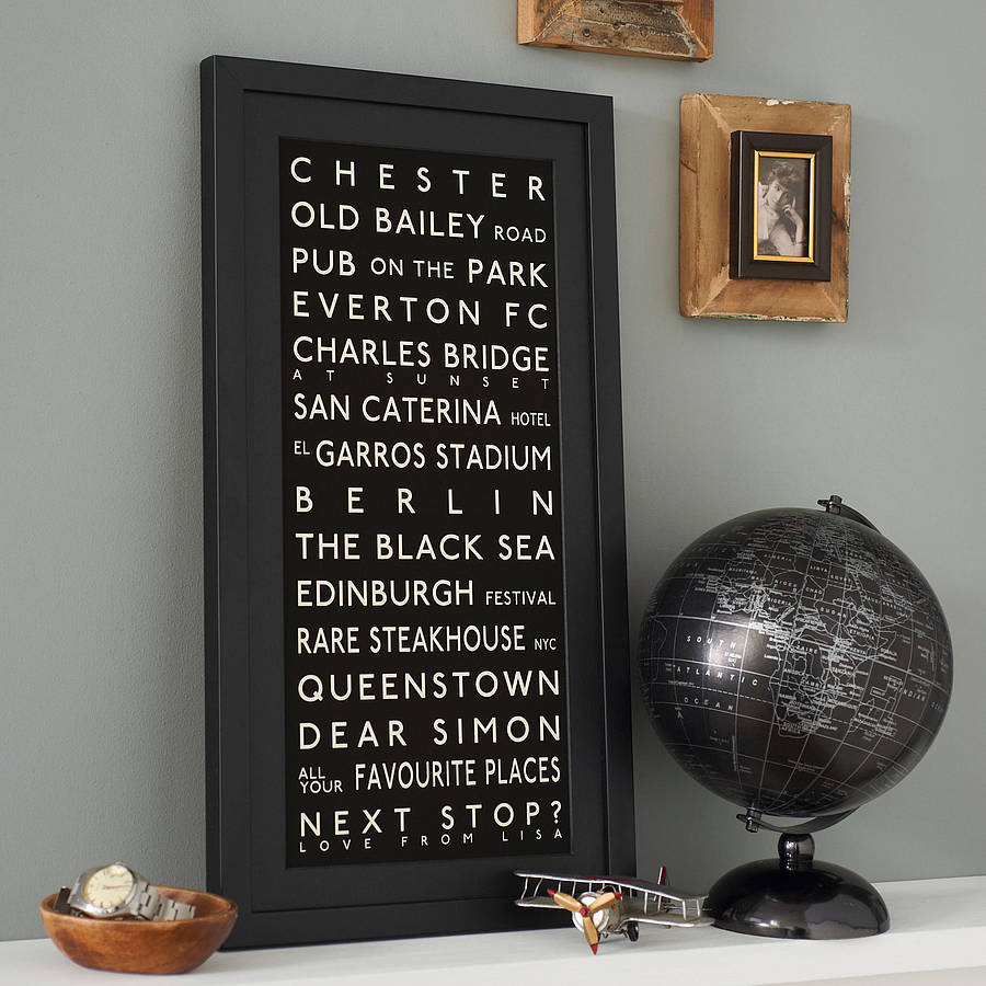 Personalised Destination Print Betsy Benn Notonthehighstreet
