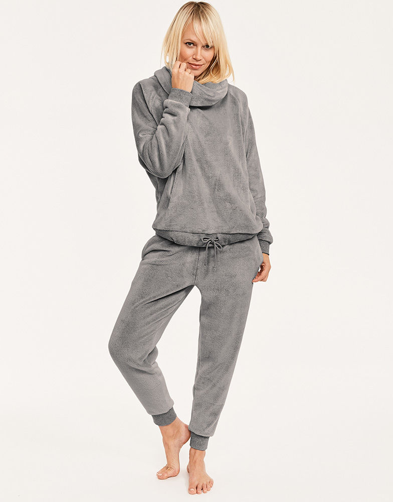 Figleaves Super Soft Cowl Neck Jumper and Joggers Grey