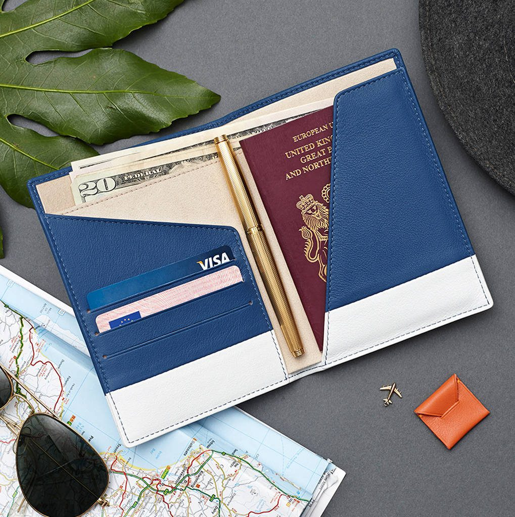 Stow Passport Holder Travel Wallet In Soft Luxury Leather Notonthehighstreet