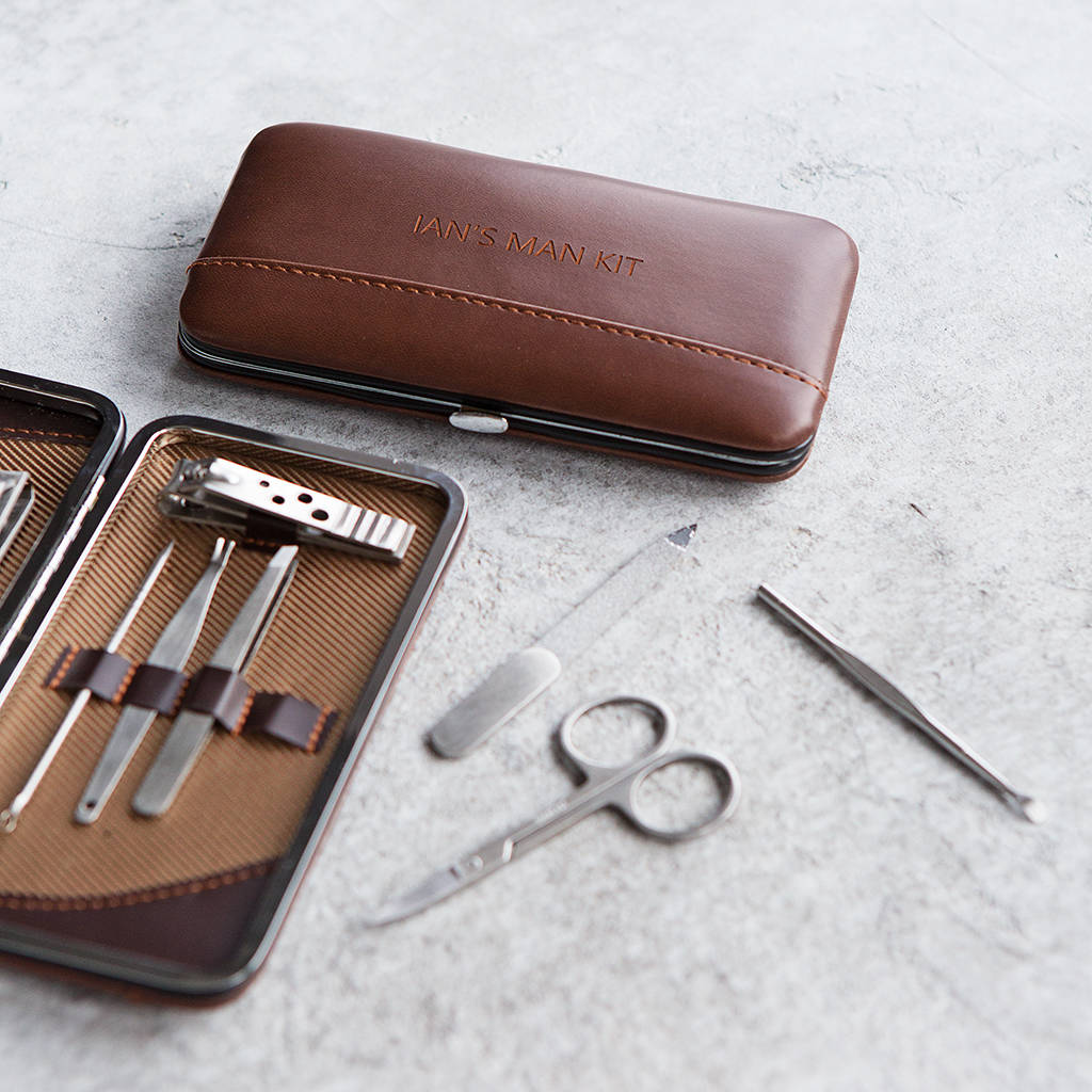 Personalised Gent's Classic Manicure Set Ginger Rose Notonthehighstreet