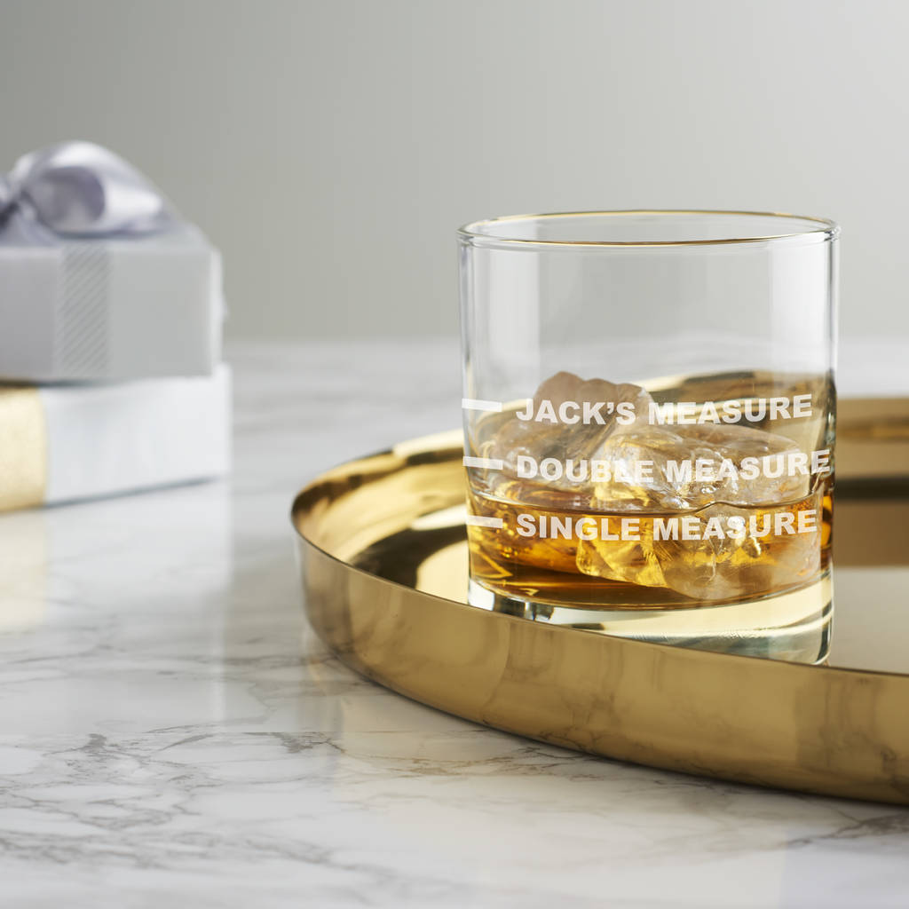 Personalised Drinks Measure Glass Becky Broome Notonthehighstreet
