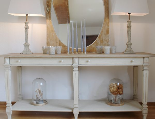 Alexa Console Table French Grey