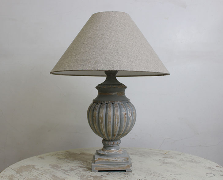 Charlotte Lamp Base and Shade Grey Wash The Grey Works