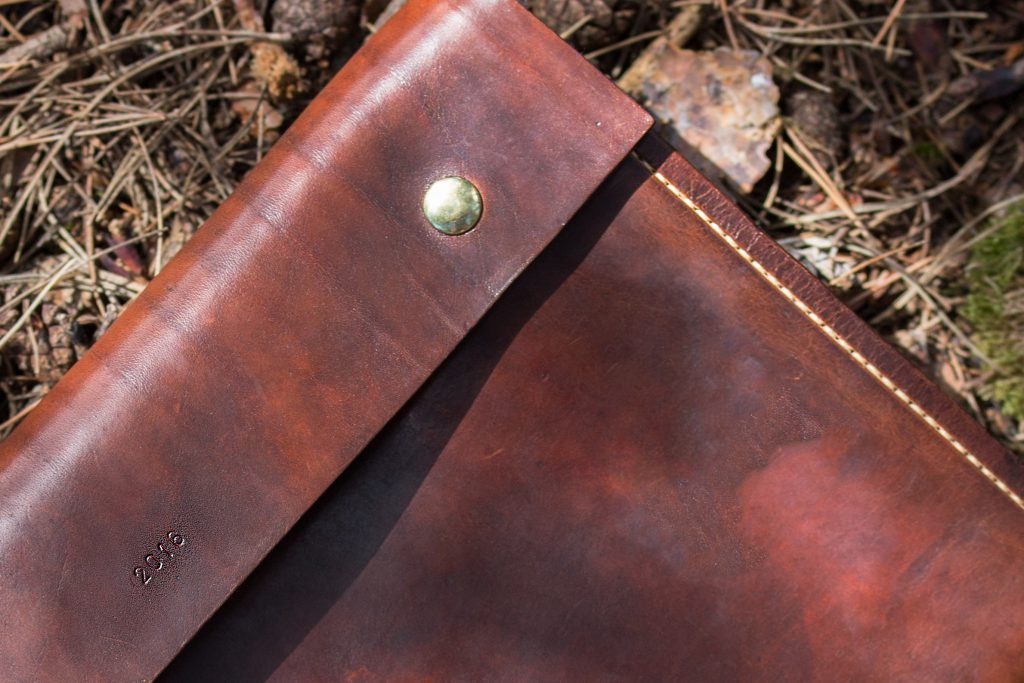 A4 Document Wallet Personalised With Date Bentley Leather Craft