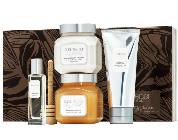 Laura Mercier Sweet Temptations Ambre Vanille Luxe Body Collection Gift Set SpaceNK Apothecary London