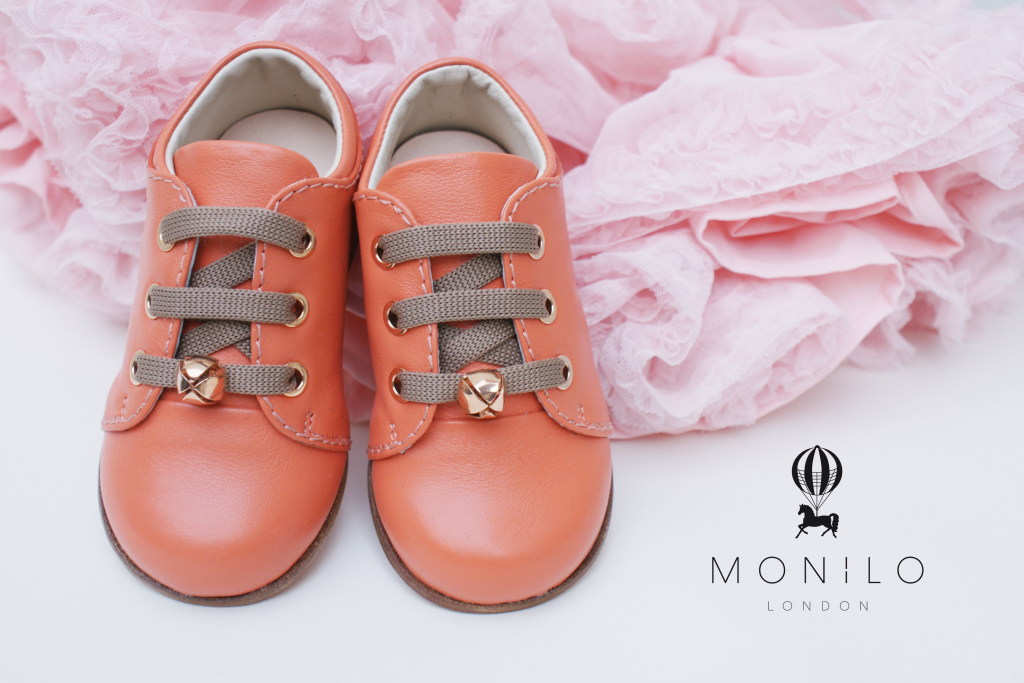 Monilo London Princess Sage Melon Girls Luxury Shoes