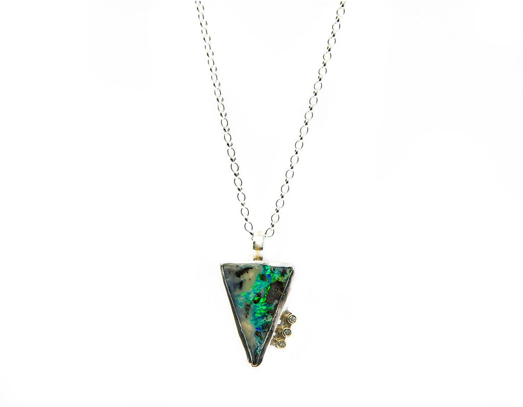 HNA Jewellery The Tempest Pendant Opal Silver