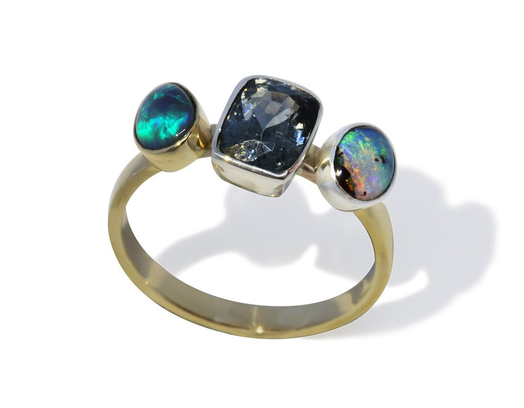 The Tempest Ring HNA Jewellery Opal Spinel Gold