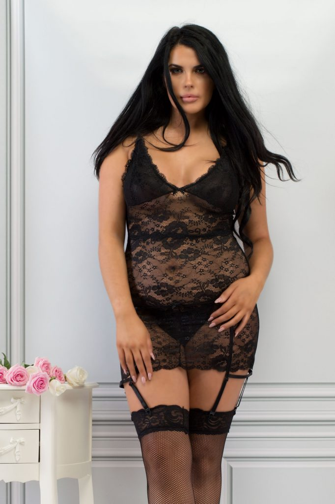 Plus Size Black Lace Bustier Perfect4U Lingerie
