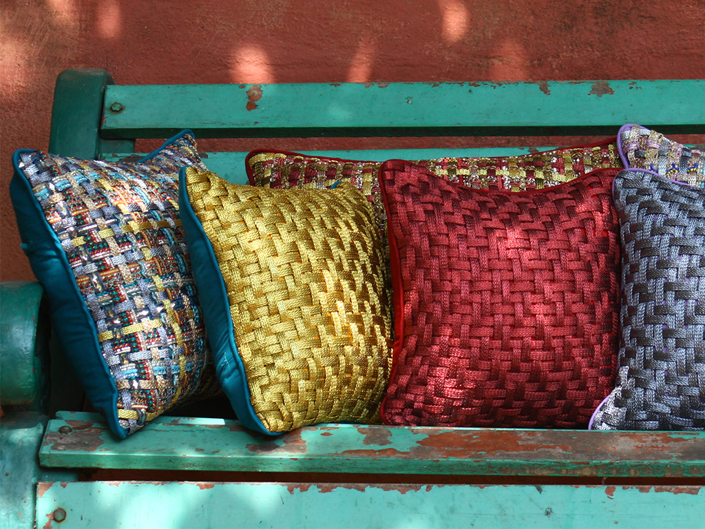The Saree Collection Scatter Cushions Emerald Dove London