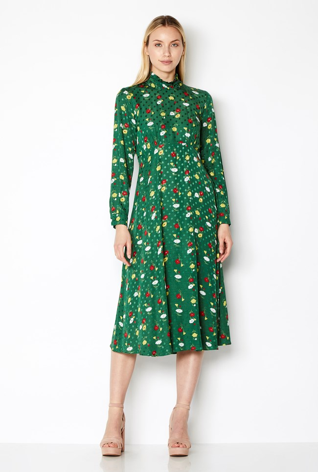 Billie Dress Vintage Ella Print Ghost London