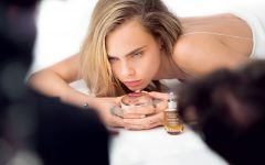Cara Delevinge Dior Capture Youth Luxury Skincare Collection