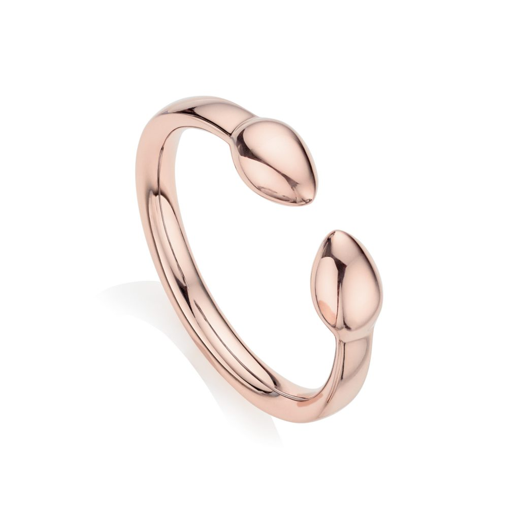 Fiji Bud Stacking Ring 18ct Rose Gold Vermeil on Sterling Silver Monica Vinader
