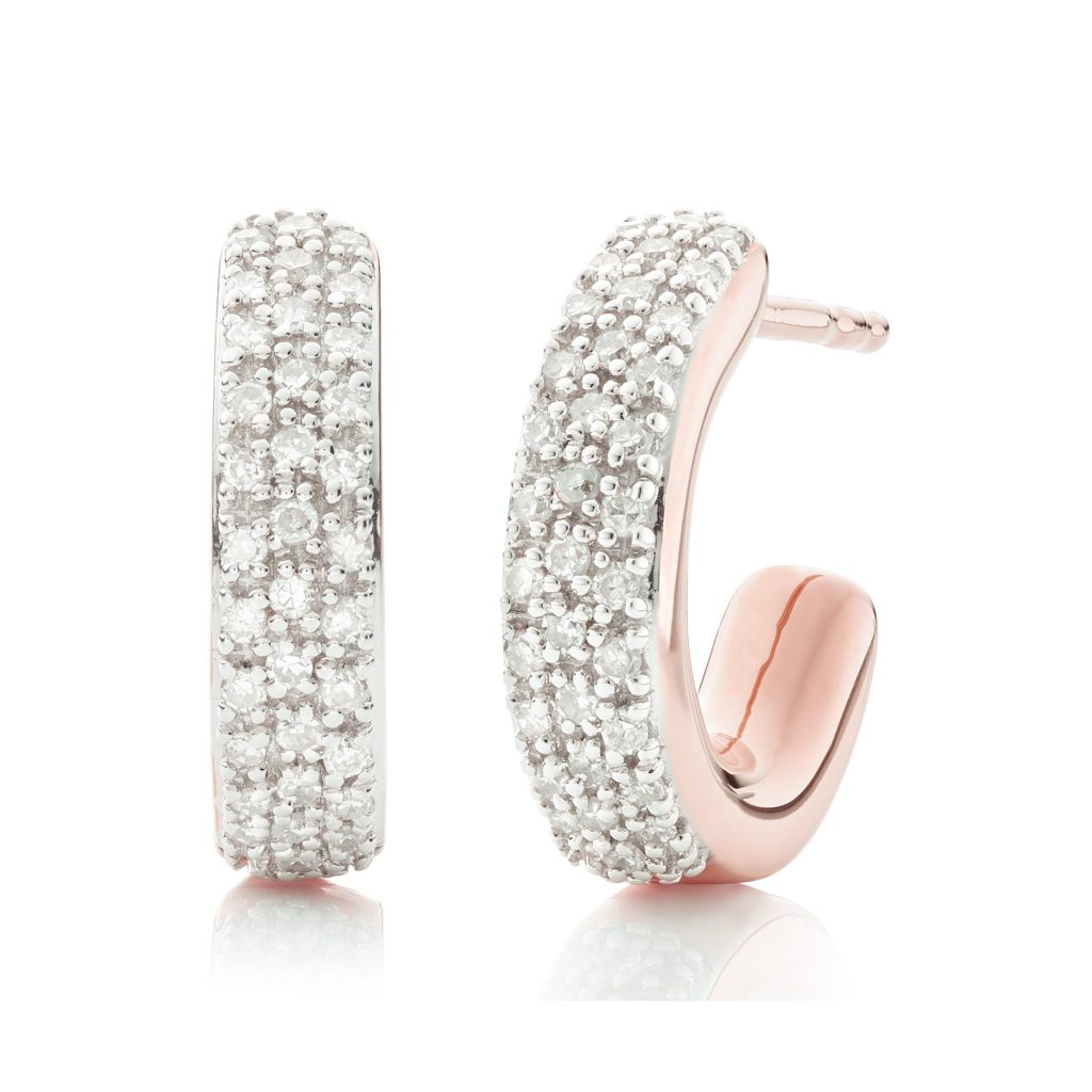 Fiji Mini Hoop Diamond Earrings Monica Vinader