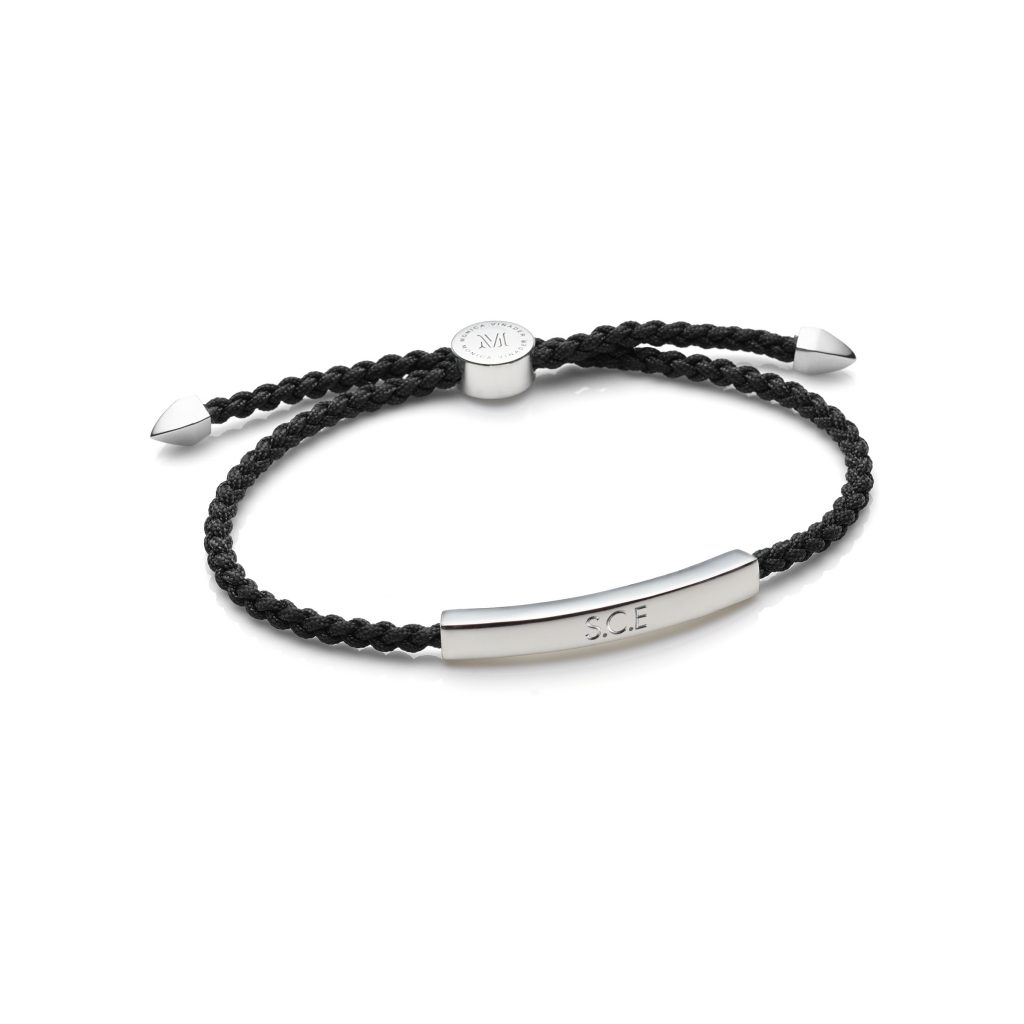Linear Mens Friendship Bracelet Sterling Silver Monica Vinader