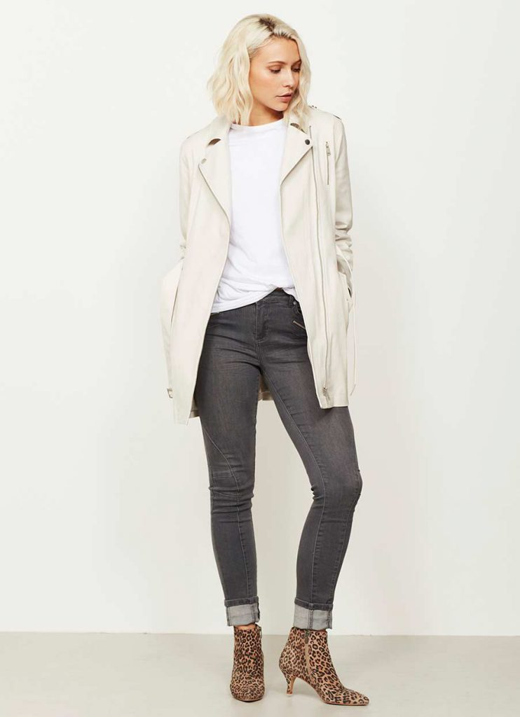 Mint Velvet Chalk Trench Coat Jacket