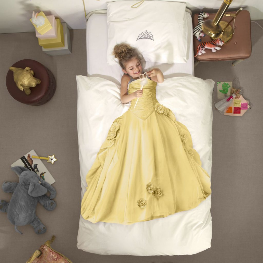 Princess Character Childrens Bedding Yellow SNURK For Horizontal Living