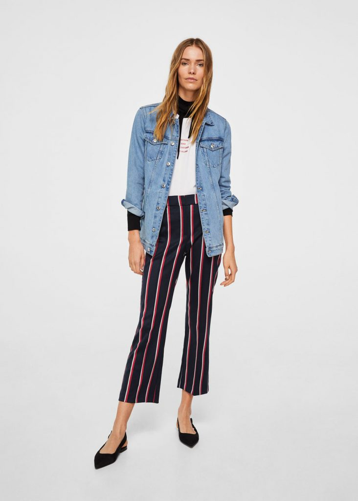 Straight Striped Trousers Mango