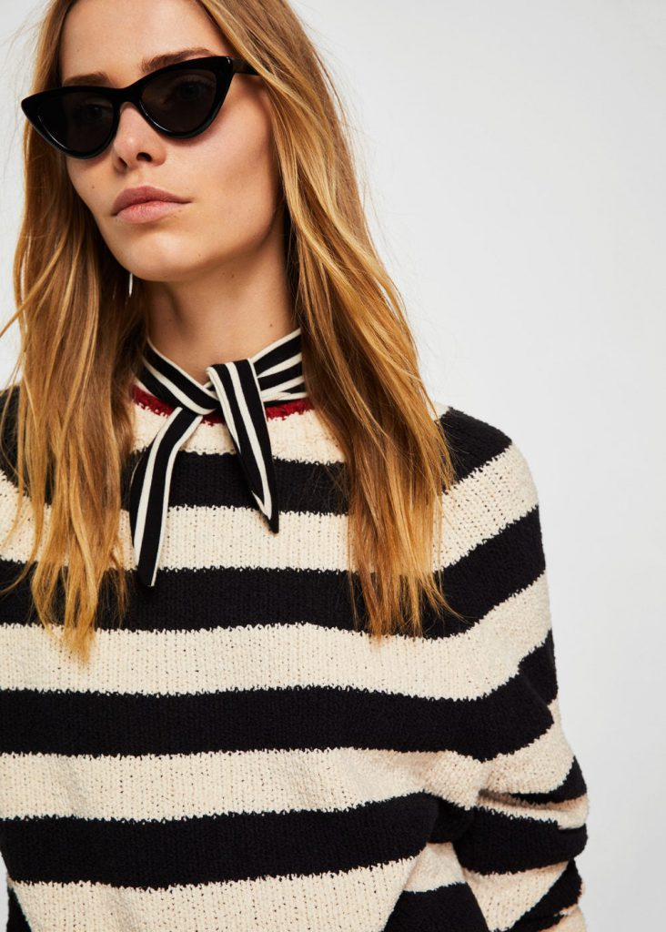 Stripe Pattern Sweater Mango