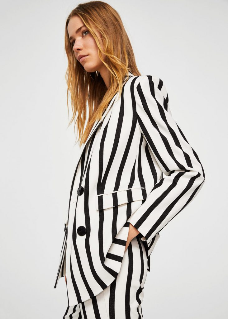 Striped Suit Blazer Mango