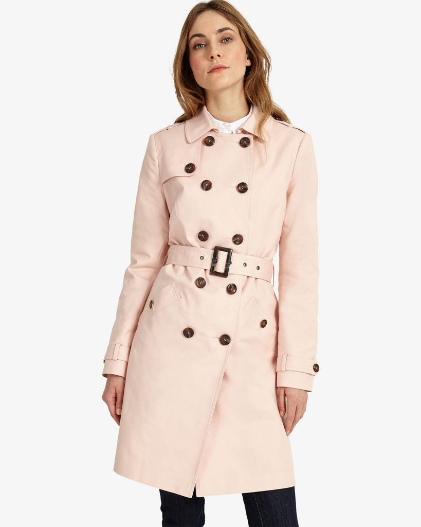 Tabitha Trench Coat Phase Eight Soft Pink