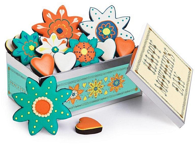 Mothers Day Flowers Biscuit Tin Biscuiteers