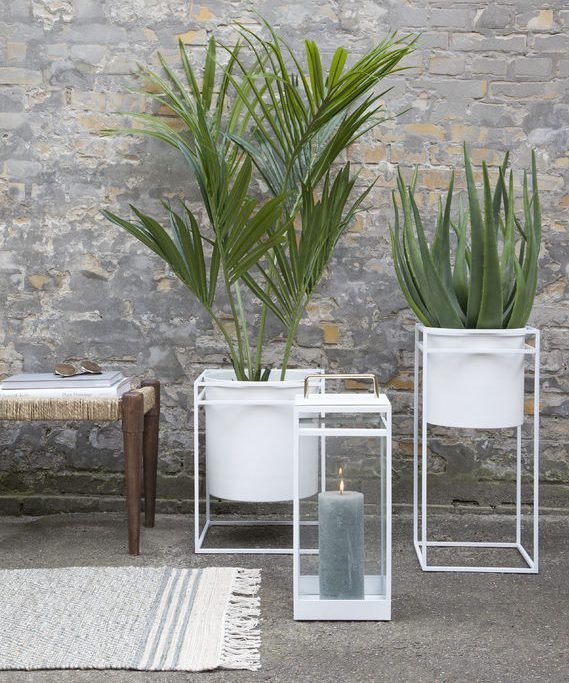 Nice Living White Metal Planters