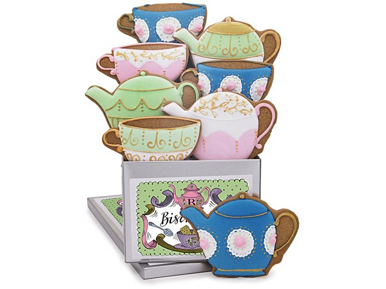 Tea for Two Luxe Biscuit Tin Biscuiteers Mothers Day Collection