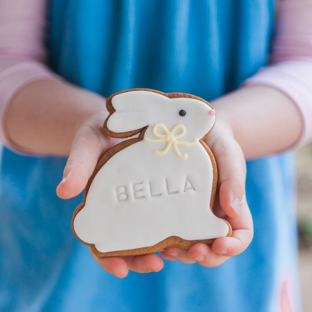 Personalised Bunny Biscuit by HONEYWELL BAKES Notonthehighstreet