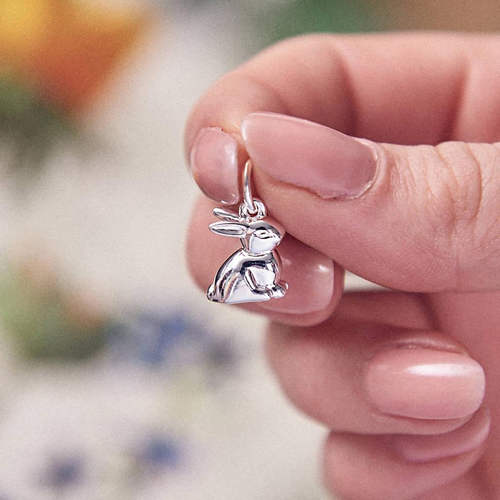 Bunny Rabbit Silver Charm