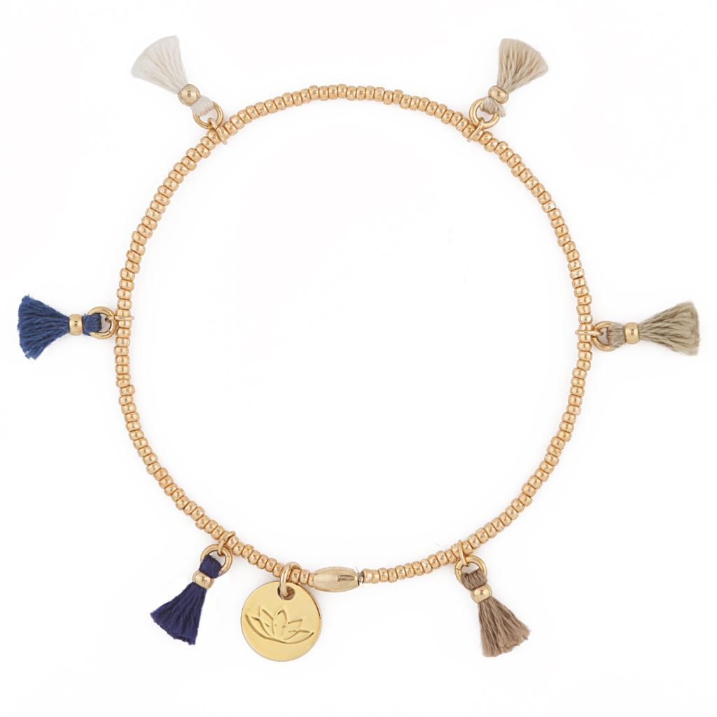 Charlene Bracelet Gold Bangle Precious Stones LUV & BART