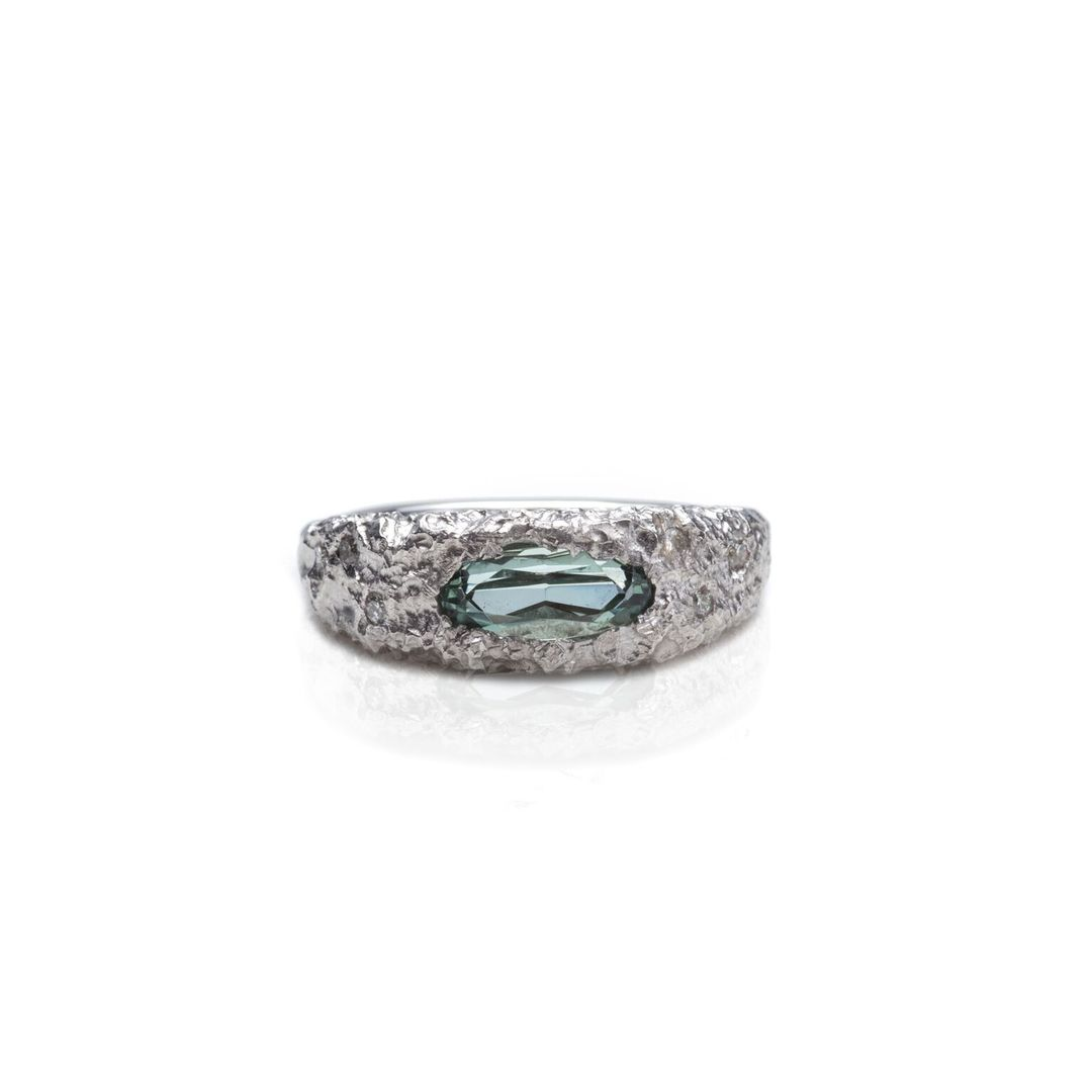 Depth of Peace Tourmaline Ring Susannah King Jewellery