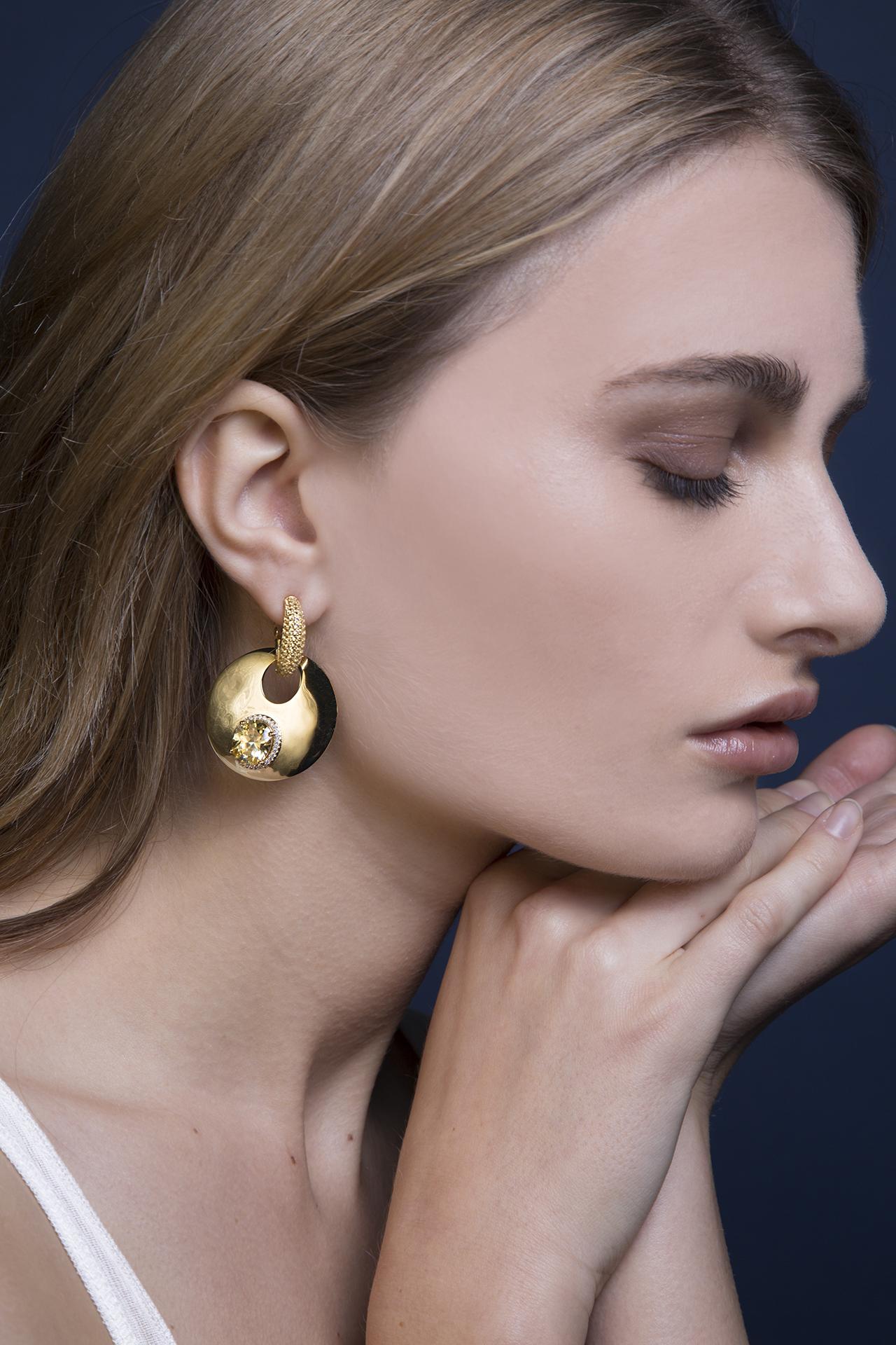 Folie Gold Earrings Lara Heems