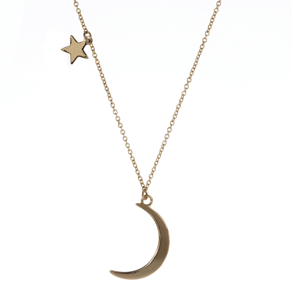 Luna Moon and Star Necklace LUV & BART