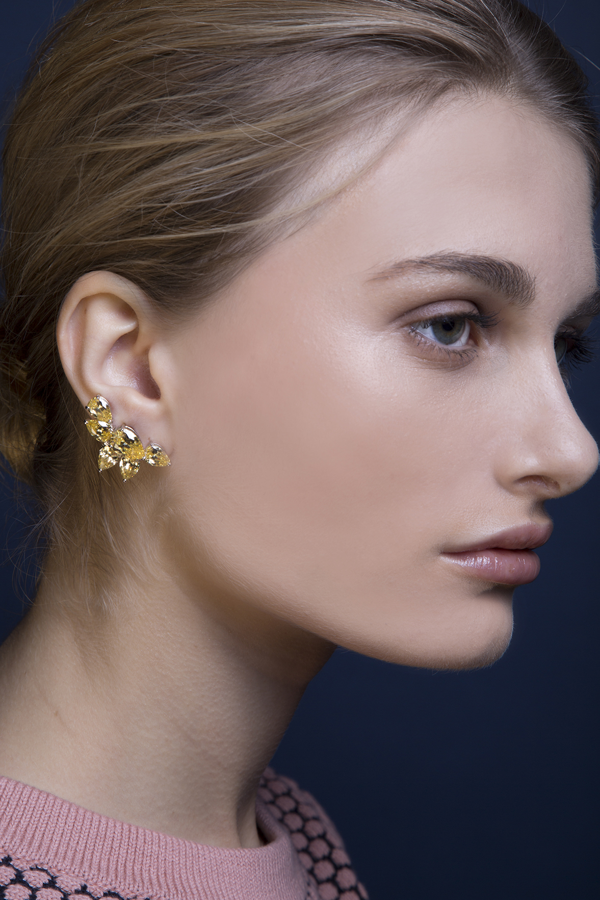 Lara Heems Lunar Earcuff Yellow Earrings