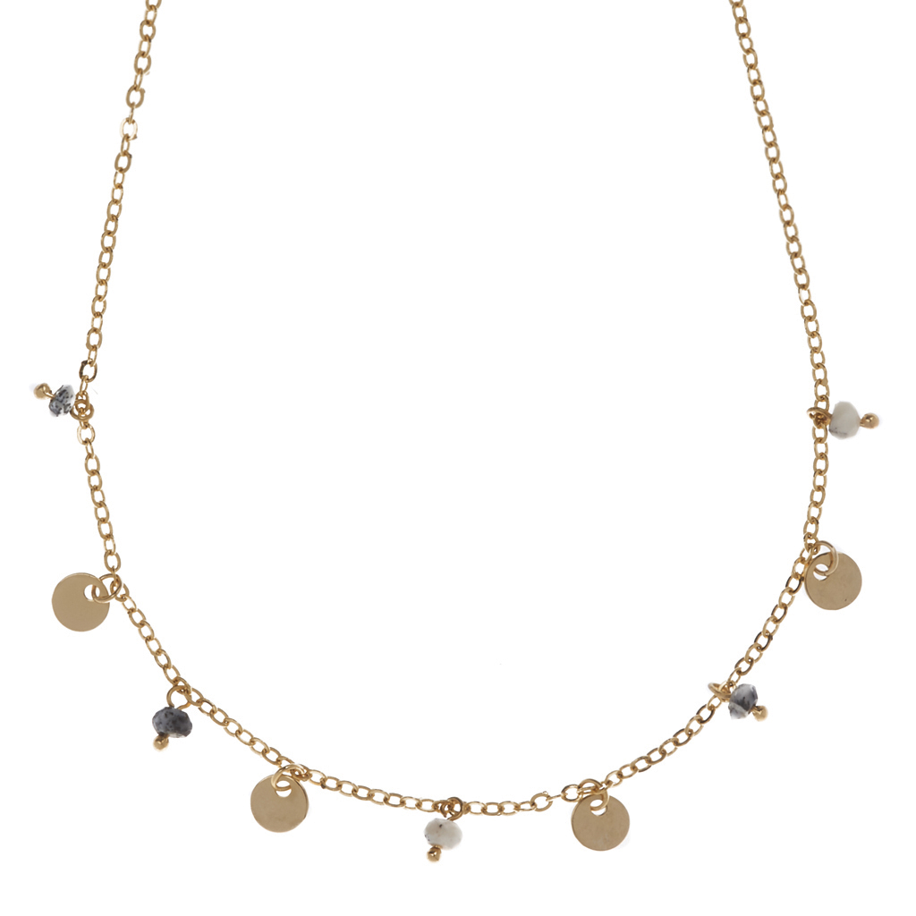 Patricia Mini Disc Necklace LUV & BART