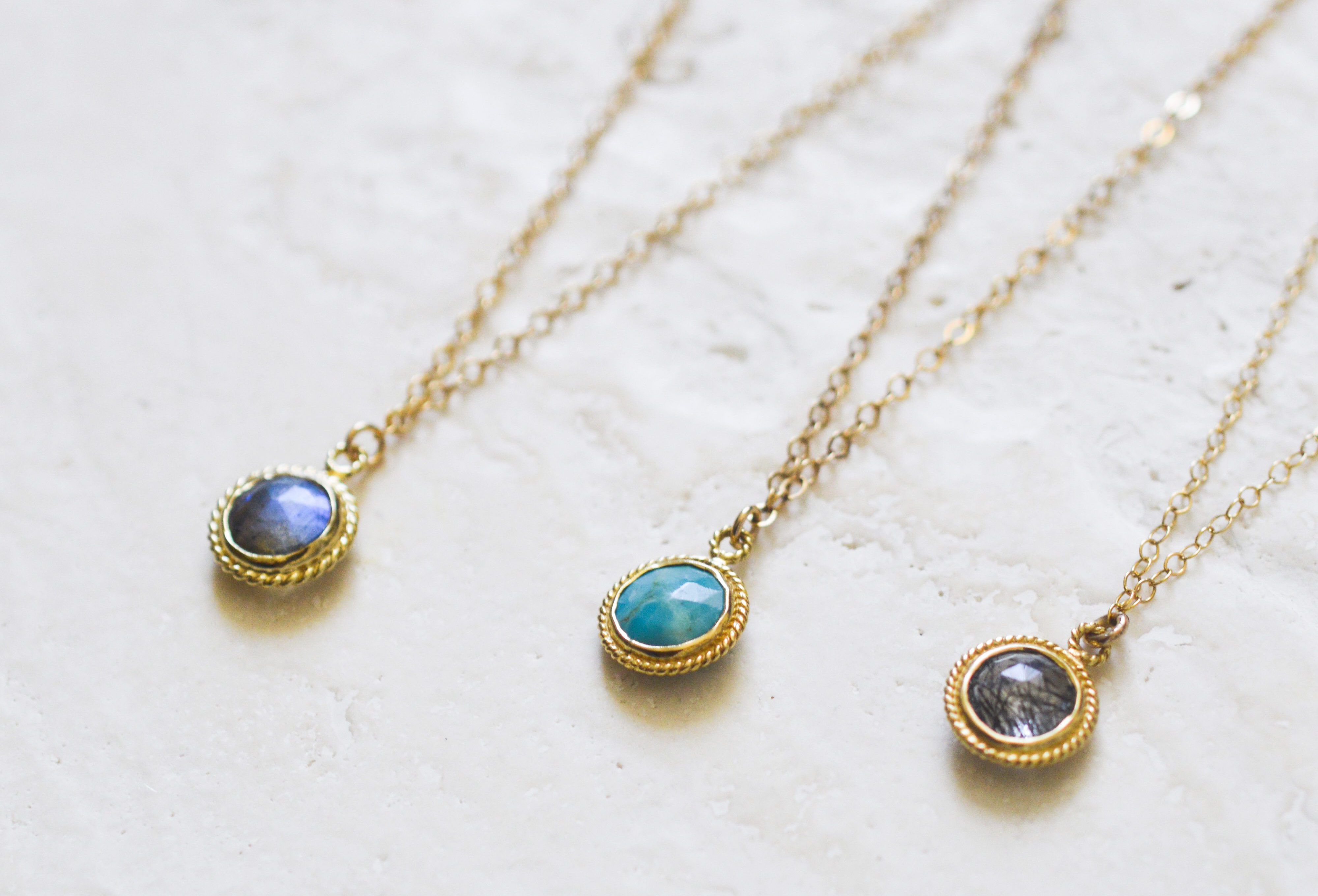 Gemstone Basics Collection Seven Saints Necklaces