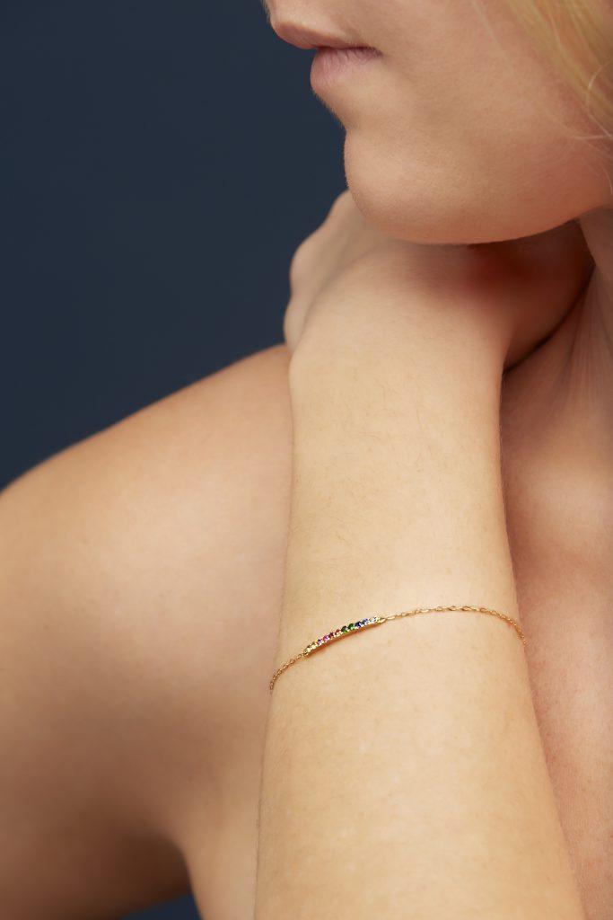 Josephine Bracelet 18 kt Yellow Gold Sapphires Tsavorites