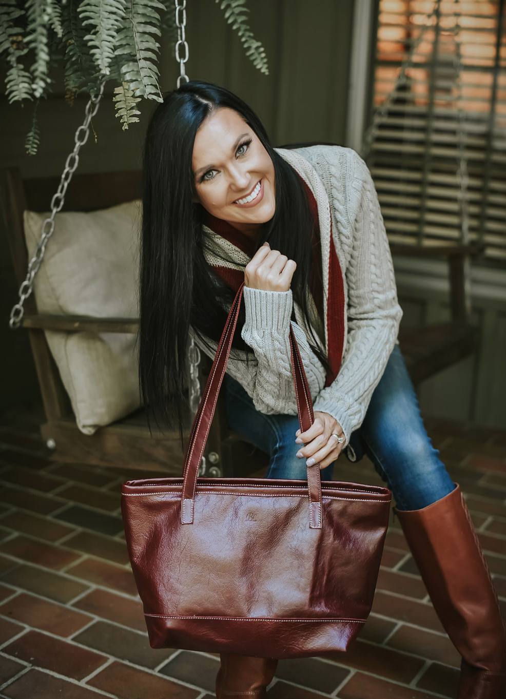 Burgandy Shoulder Bag Blythe Leonard LLC