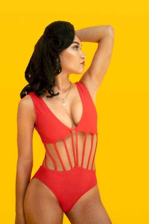 Elektra Red Rose Paulino Swimwear