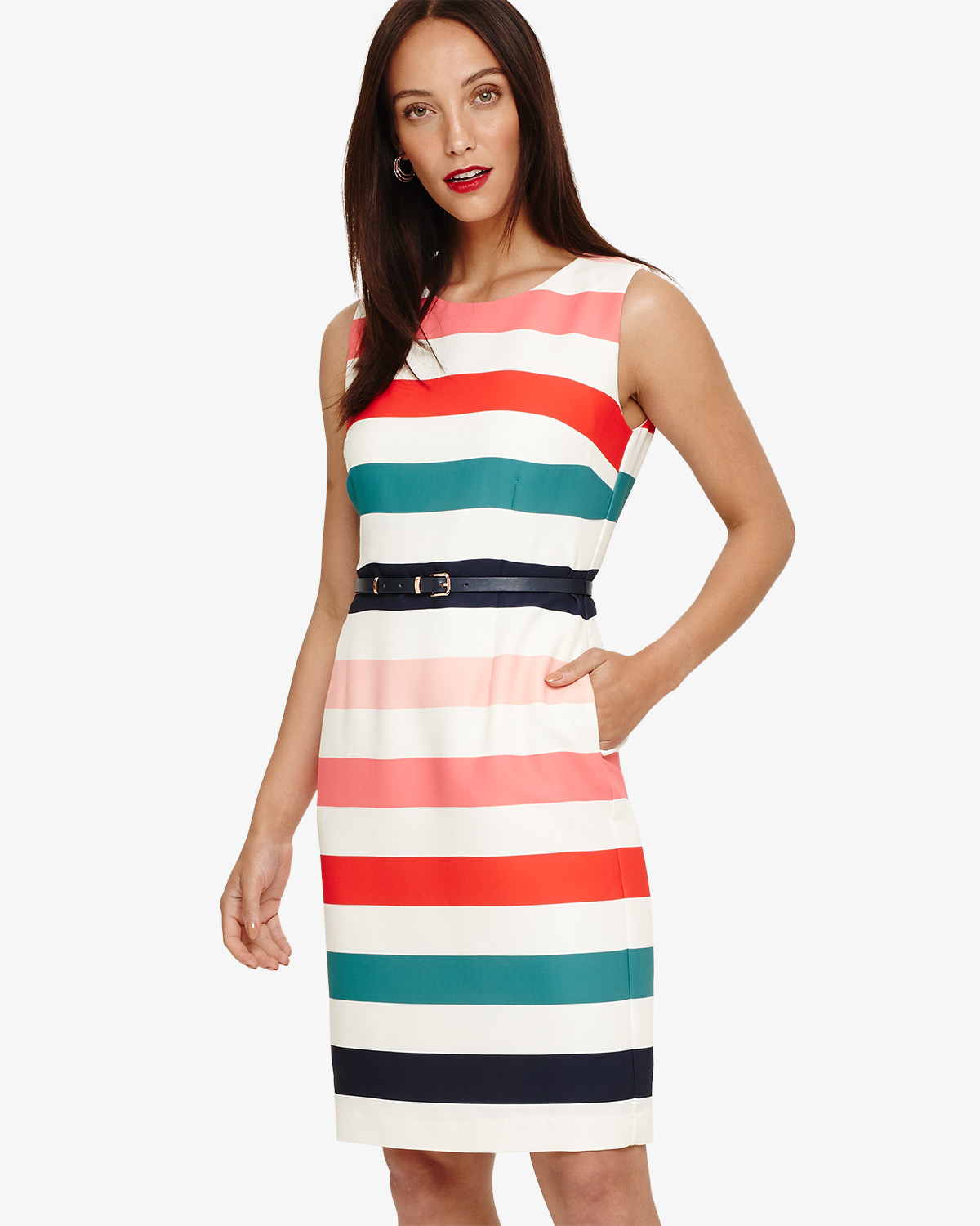 Faye Striped Dress Phase Eight