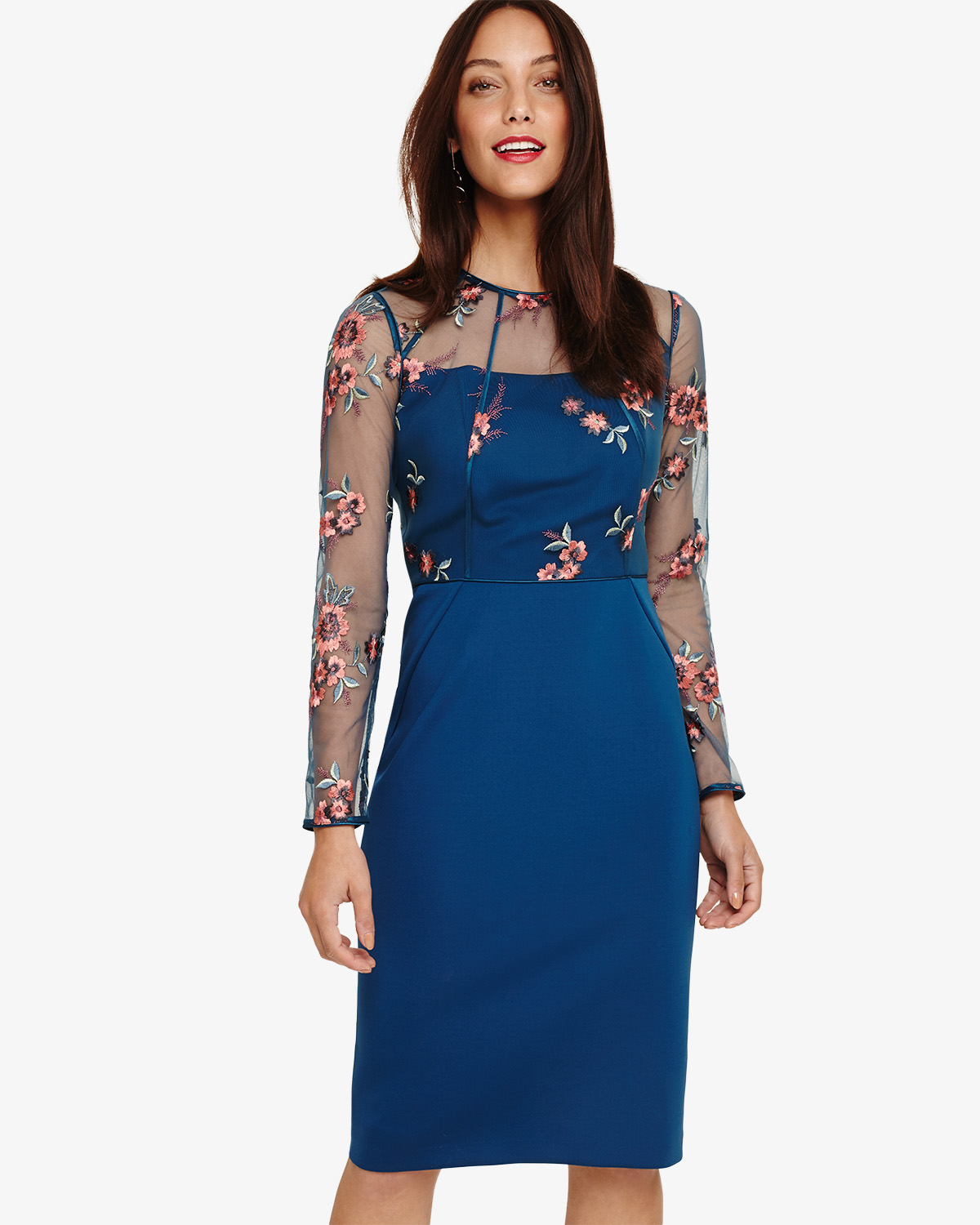 Felice Embroidered Dress Phase Eight