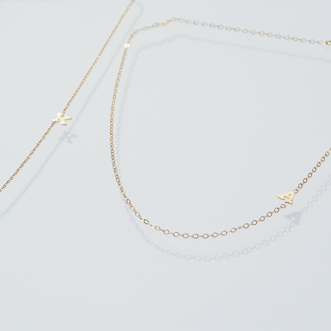 Natty + Co Initial Love Gold Personalised Initial Necklace