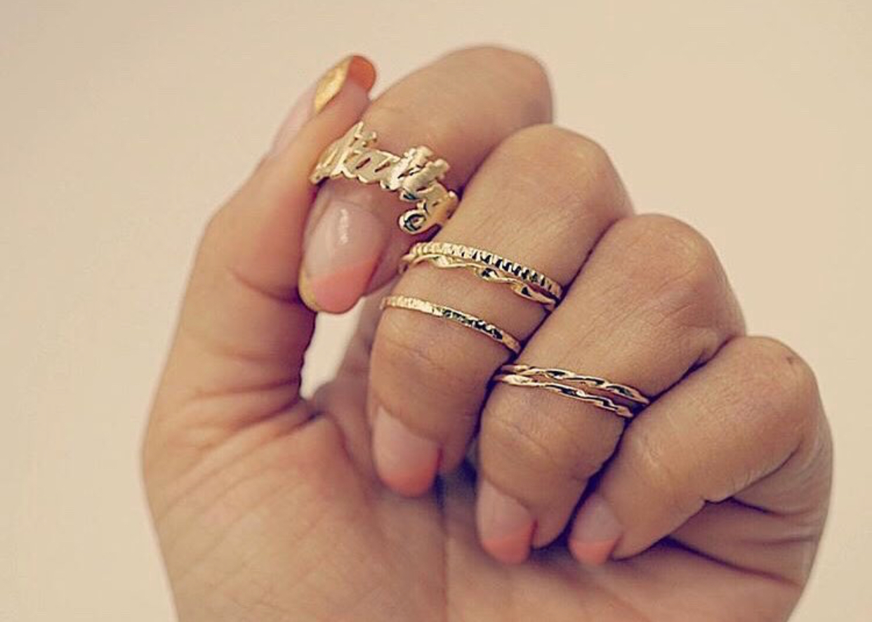 Natty + Co Solid Gold Rings