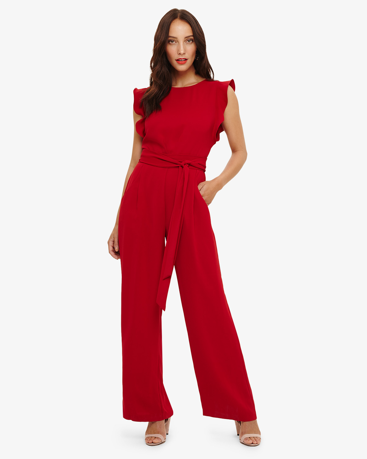 Victoriana Jumpsuit Red Phase Eight